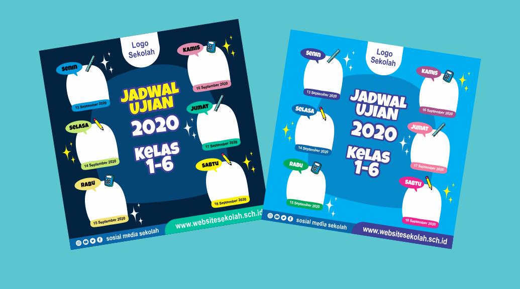 Download Template Jadwal Ujian Sekolah SD, SMP, SMA, SMK